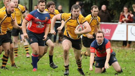 Action from Swaffham's hard-fought victory over Great Yarmouth-Broadland on Saturday. Picture: Eric