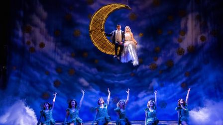 Tom Chambers as Bobby and Charlotte Wakefield as Polly in Crazy For You. Photo: Richard Davenport