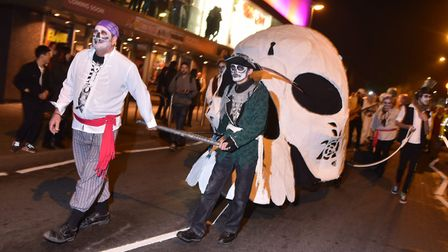The Spooky City Halloween parade 2016. Picture Sonya Duncan