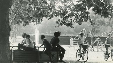 Children playing at Waterloo Park, 18th Agust 1982. Picture: Archant Library
