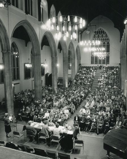 The WI sale held at St. Andrews Hall, October, 1989. Picture: Archant Library
