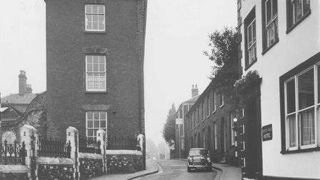Theatre Street before the street was widened, 1963. Picture: Archant Library