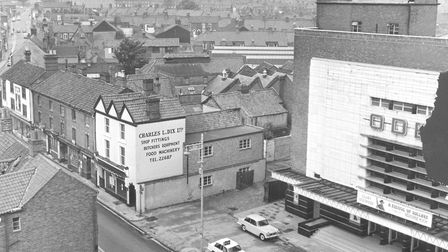Botolph Street showing the Odeon Cinema before it was due soon to be demolished to make way for the