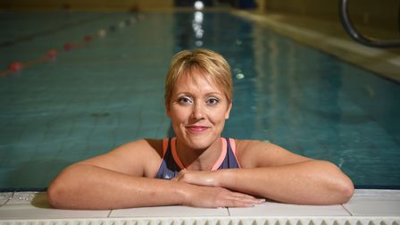 Jo Wharam who is doing a charity swim.Picture: ANTONY KELLY