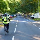 The finished cycle lanes in the road on The Avenues. Picture: DENISE BRADLEY