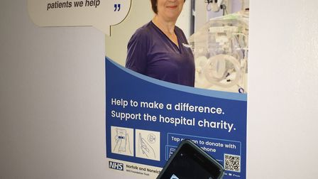 Innovative platform to help raise awareness of hospital charity. Photo: NNUH
