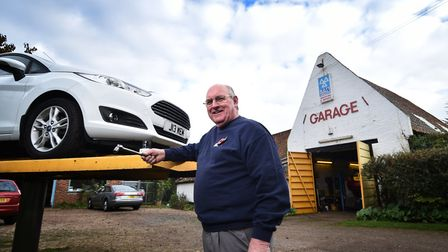 Keith Morgan celebrating the 70th anniversary of his family business Morgan's of Drayton. Picture: A