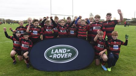 Wymondham's Under-12s enjoyed their day out at Northampton. Picture: Landrover