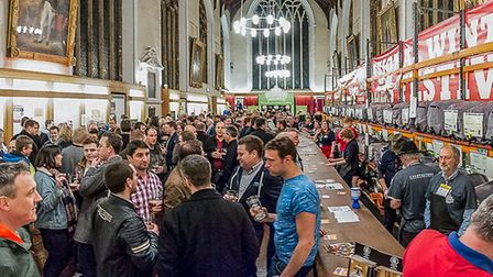 The CAMRA real ale festival which was held in February 2017 at St Andrew's and Blackfriars' Hall in