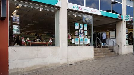 The PDSA charity shop on Queens Road, Norwich. Picture: Dawn Cowie