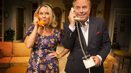 Charlie Brooks and Robert Daws in How The Other Half Loves. Photo: Pamela Raith