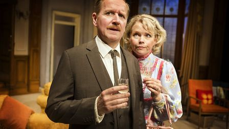 Matthew Cottle and Sara Crowe in How The Other Half Loves. Photo: Pamela Raith