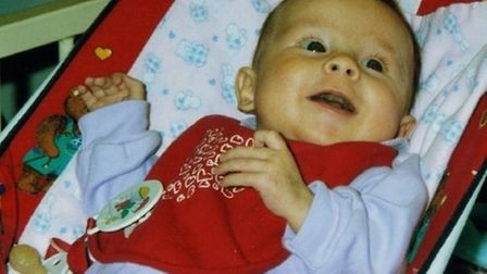 Molly Snelling, who was born in 2001 but died from cystic fibrosis when she eight-months-old. Pictur