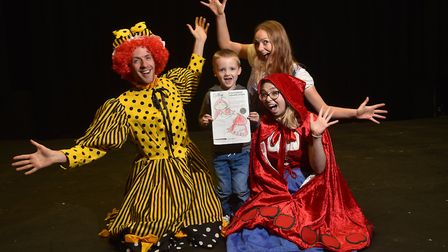 Ethan Chapman, 5, has designed the Little Red Riding Hood cape in this year's panto at The Garage. P