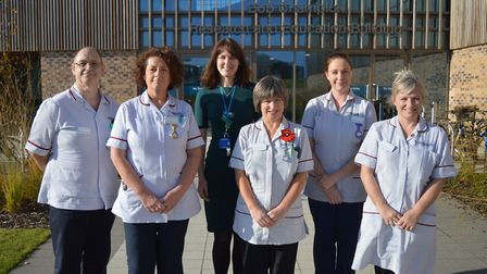 Macmillan recovery package team. Photo: NNUH