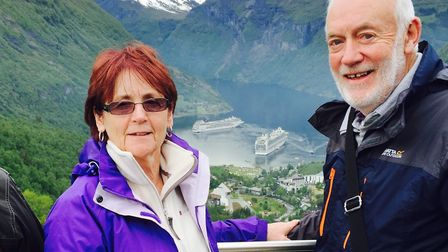 Janice Barnston and her husband, David, who had a stroke in 2011. Picture: Stroke Association