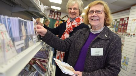 Laurel Walpole, front, chairman, and Enid Stanbrook-Evans, volunteer, at the opening of the Original