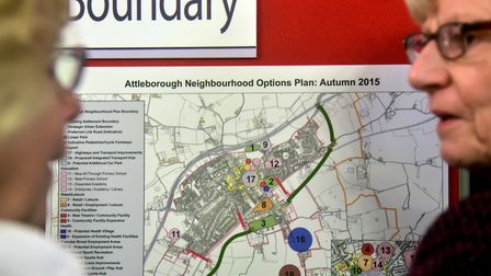 The Attleborough Neighbourhood Plan goes on display for local people to visit and comment on with th