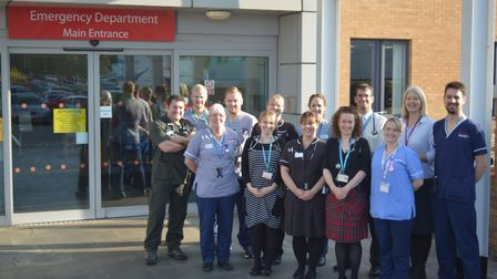 Members of the NNUH Emeregncy care team and Older People's Medicine. Photo: NNUH
