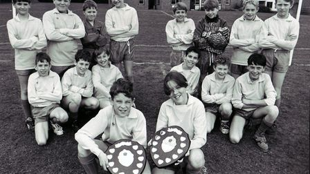 Successful six-a-side football teams from South Greenhoe Middle School in Swaffham, dated 16th March