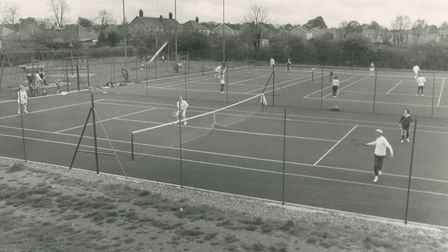 Watton tennis courts, 13th May, 1978. Picture: Archant library