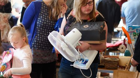 Recyclers search for free finds at South Norfolk Council event. Picture: South Norfolk Council