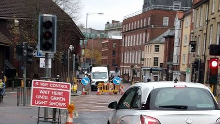 Traffic on St Andrew's Street earlier in the week. (Photo: submitted)