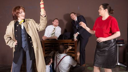 Accidental Death of an Anarchist at Sewell Barn Theatre. Photo: Sean Owen