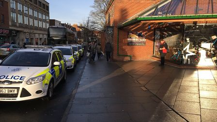 Police were called to Castle Mall in Norwich. Picture Archant.