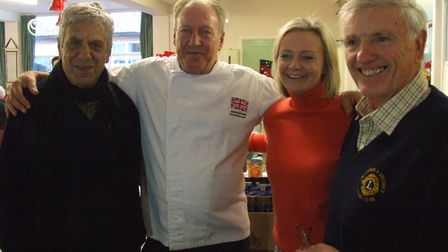 International chef John Hornsby flew in from the Canaries for the occasion. Picture: Swaffham Lions