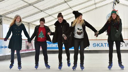 The Castle Mall Ice Rink opens December 15 (PHOTO: Nick Butcher)
