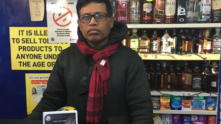 Shopkeeper Kuganeswaran Shanmugam defended his off licence in Heigham Street, Norwich, from armed wo