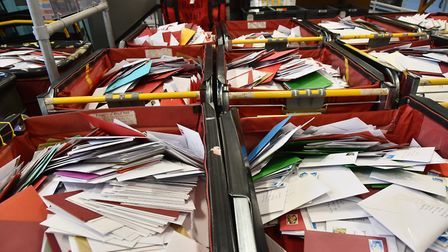 The post office in Norwich during their busiest day of the year.Byline: Sonya DuncanCopyright: Archa