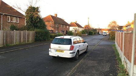Sir Edward Stracey Road in Rackheath, where the attack is believed to have happened. Picture: Dan Gr