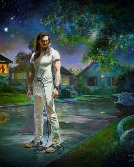 Cover art for Andrew W.K.'s forthcoming new album You're Not Alone. Photo: Chuff Media