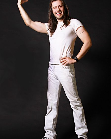 Andrew W.K. will play the Waterfront, Norwich, in April. Photo: Ashley Eberbach