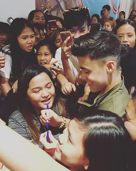 Bailey May meeting fans. Picture: Instagram