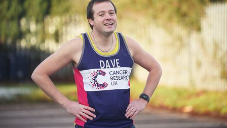 IT technician Dave Walton has run a half marathon every month this year for Cancer Research. Picture