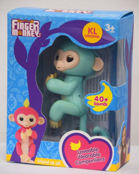 Finger Monkey, one of the fake Fingerling toys being sold on the streets of Norwich. Picture: DENISE