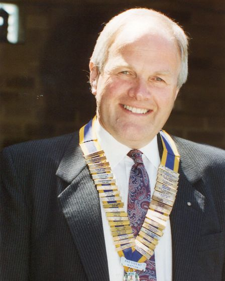 Watton and District Rotary Club President, Richard Crabtree, 6th July 1993. Photo: Archant Library