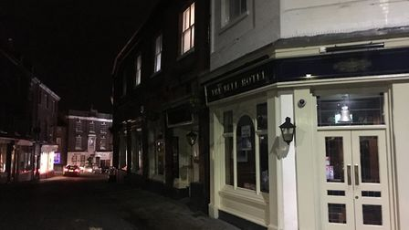 Parts of Timberhill and Orford Street in Norwich were left without power following a cut. Picture: A