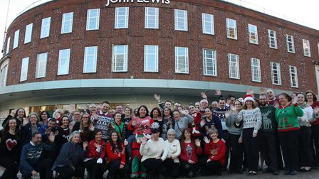 Partners at John Lewis in Norwich have come to work in their best Christmas jumpers to raise money f
