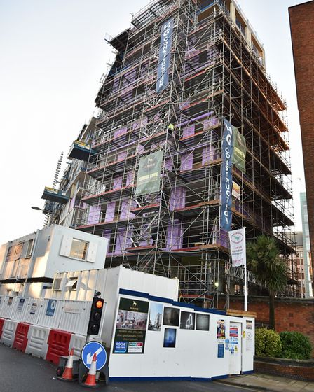 Pablo Fanque House, which is a student flat scheme being built in All Saints Green. Pic: Sonya Dunca