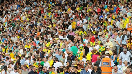 Norwich City fans at Carrow Road. Picture: James Bass