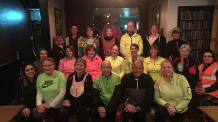 Wymondham's Green Dragon running club who are preparing for their first 5k. Picture: Georgina Sexton