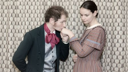 Asher Girling and Lucy Finnie, who play Morris Townsend and Catherine Sloper in Saxlingham Players'