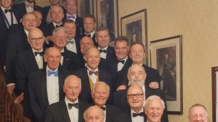Former chairmen of Norwich Round Table gather for dinner celebrating club's 90th anniversary. Pictur