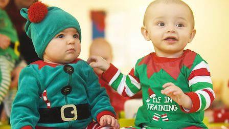 Little Elves visited residents at the Broadland View Care Home in Norwich. Picture: Ian Burt