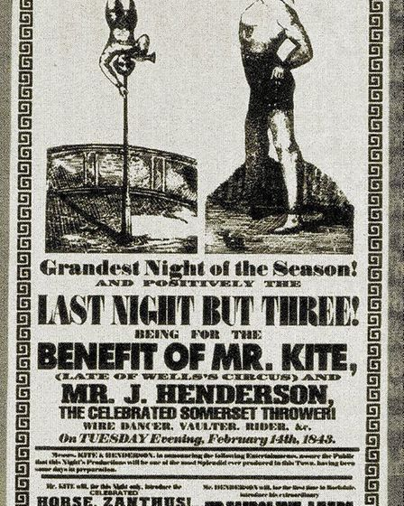 """Posters for Pablo Fanque's circus inspired the Sgt Pepper song, """"Being For the Benefit of Mr Kite!""""."""