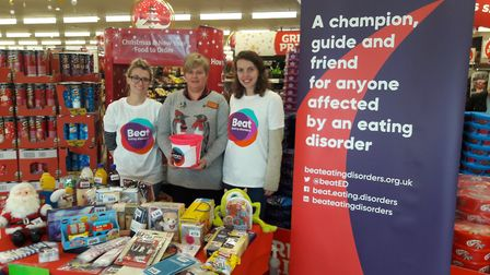 Fundraising for Beat, Norwich at Sainsbury's Pound Lane during December. Photo: Sainsbury's